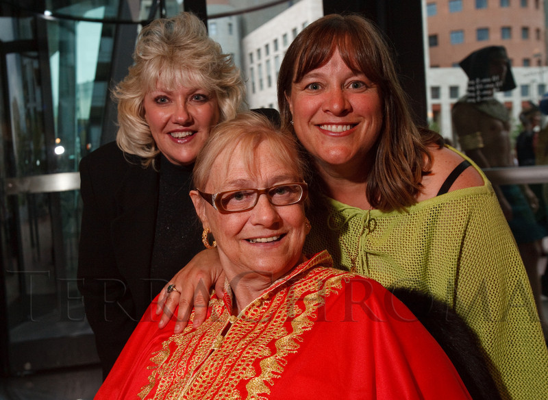 (Denver, Colorado, June 25, 2010)<br /> Fredda Peterson, Bernadette Berger, and Cindy Hayes.  Flappers and Pharaohs Bash at the Denver Art Museum in Denver, Colorado, on Friday, June 25, 2010.<br /> STEVE PETERSON
