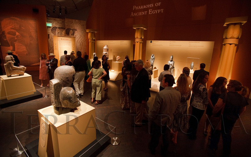 (Denver, Colorado, June 25, 2010)<br /> Guest had the opportunity to view the King Tut exhibit before opening to the public.  Flappers and Pharaohs Bash at the Denver Art Museum in Denver, Colorado, on Friday, June 25, 2010.<br /> STEVE PETERSON