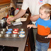 making muffins with daddy