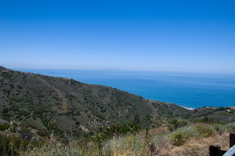 Blick runter auf Malibu - ungefaehr 25 Minuten von meinem neuen Job (Santa Monica)