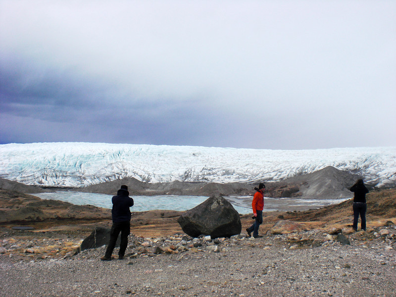 View over the glacier front <br /> <br /> Photo: Christian Panton