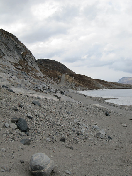 The melt water from the glaciers erode the landscape<br /> <br /> Photo: Thomas Blunier