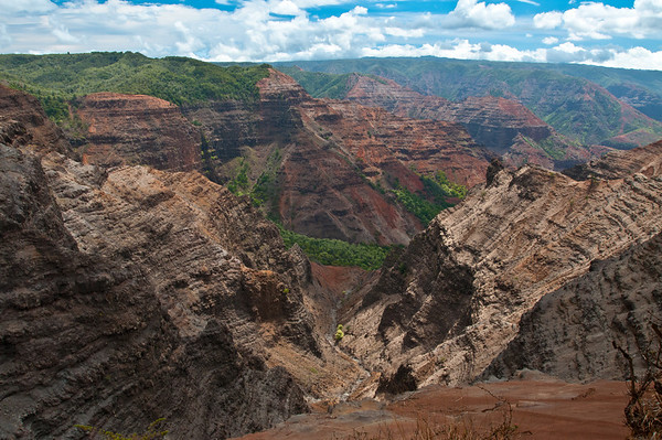 Another view of Waimea Canyon, seen from a different lookout. You can see where the river used to run way down below.