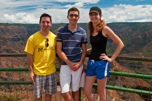 The 3 of us in front of Waimea Canyon, the Grand Canyon of the West.