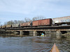Never kayaked beneath a train before