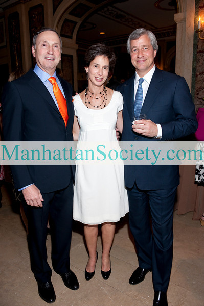 NEW YORK-MAY 25: Robert I. Grossman, MD (Dean and CEO of NYU Langone Medical Center), Alice Tisch (Chair of KiDS of NYU) , Jamie Dimon (Chairman, CEO JP Morgan Chase ) attend The KiDS of NYU Foundation, Inc. Springfling Gala 2010 on Tuesday, May 25, 2010 at The Plaza Hotel, Fifth Avenue at Central Park Souths, New York City, NY (PHOTO CREDIT: ©Manhattan Society.com 2010 by Christopher London)