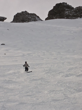 Harrison took some photos and some videos of me skiing so I returned the favor and shot some of him on his way down the backside at Kirkwood.