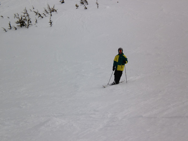 Aaron waits for Harrison to take a picture while at Kirkwood.  Photo by Harrison Turner.