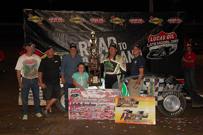 Scott Bloomquist and crew in Victory Lane @ LaSalle Speedway
