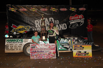 Scott Bloomquist in Victory Lane @ LaSalle Speedway