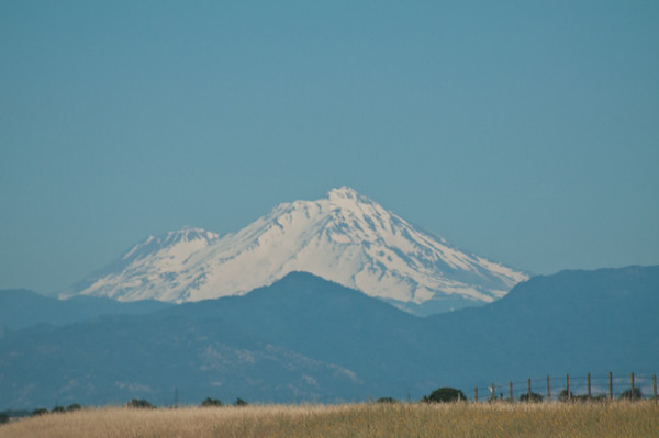 The view of Mount Shasta as we drove up - we were still ~70 miles from the lake at this point!