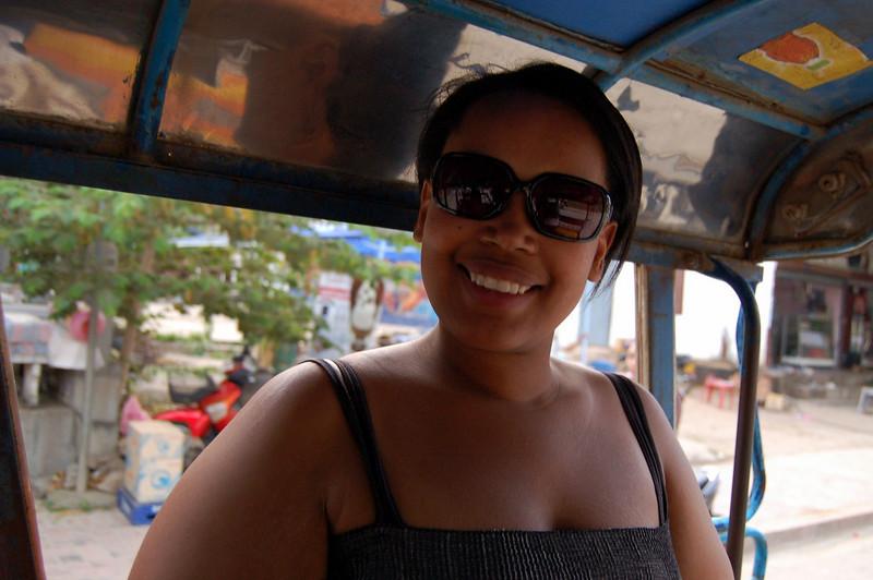 Sherry in tuktuk