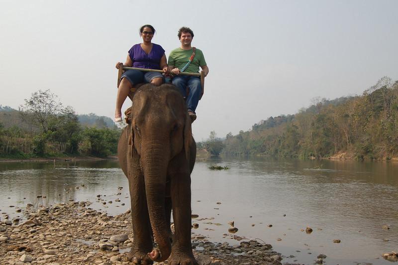 Atop elephant 1
