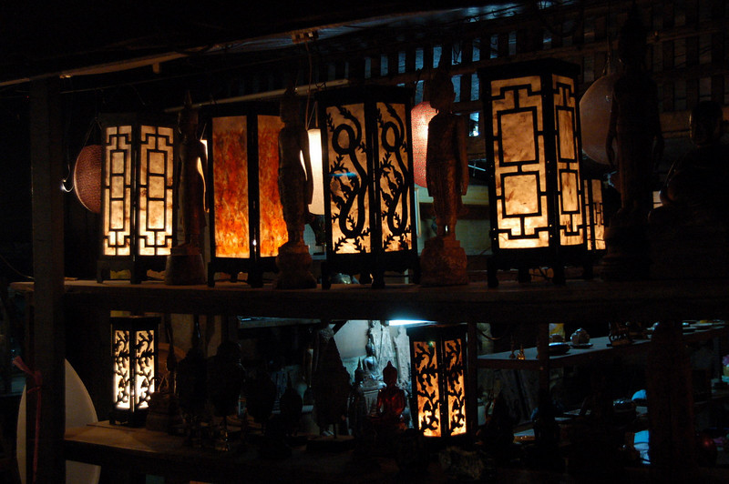 Night market lamps