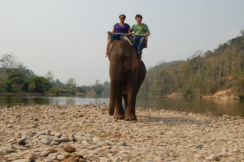Atop elephant 2