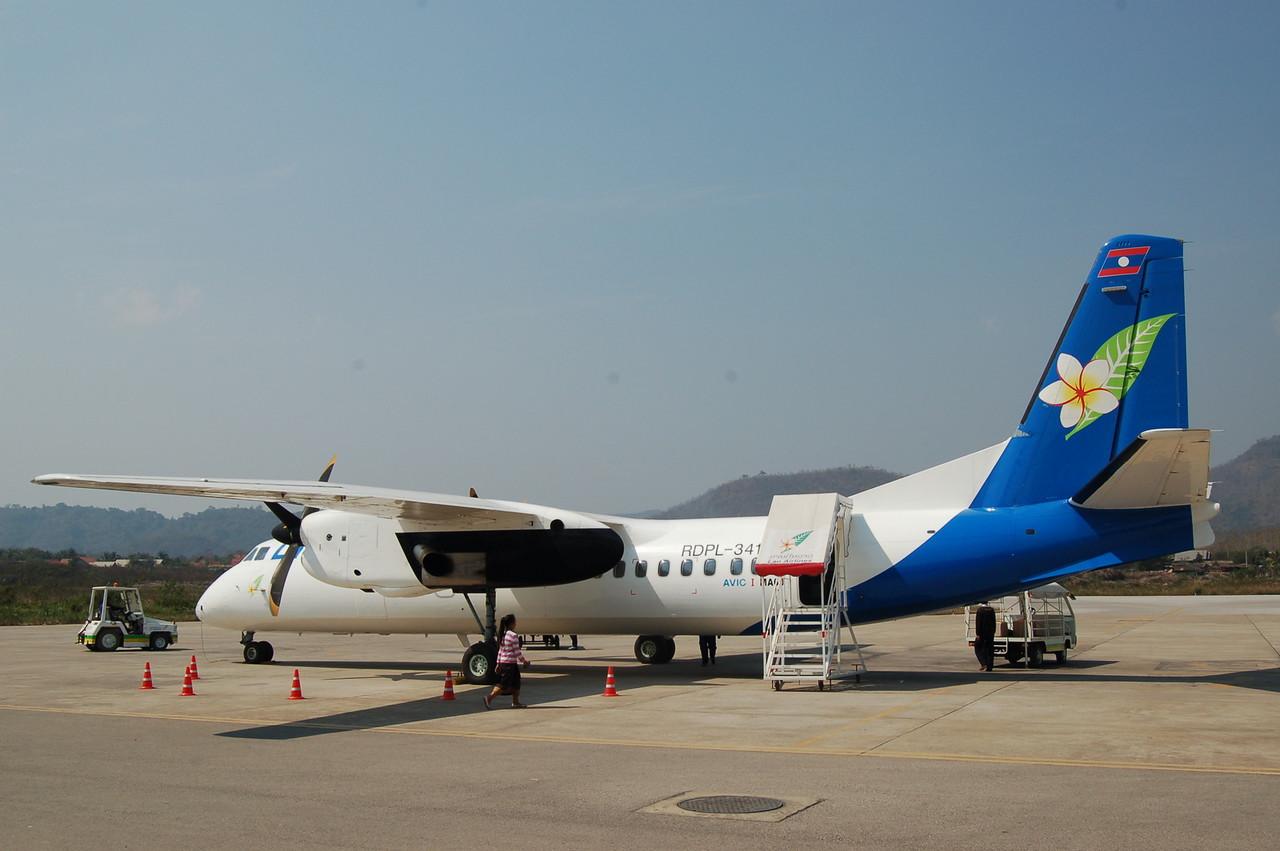 Plane to Luang Prabang