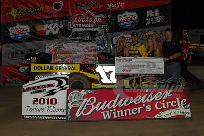 Dale McDowell in Victory Lane @ Lawrenceburg Speedway