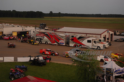 Pit Area for the 18th Annual Dart Show-Me 100 @ Lucas Oil Speedway