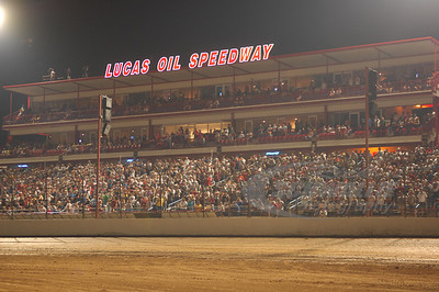 A packed house on hand for the 18th Annual Dart Show-Me 100 @ Lucas Oil Speedway