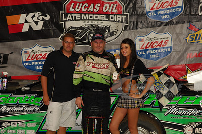 Jimmy Owens in Victory Lane @ Lucas Oil Speedway