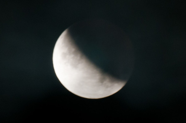 Lunar Eclipse Maximum Eclipse, Partial Moon @ 4:33am Saturday, June 26, 2010