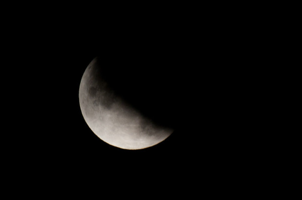 Lunar Eclipse Maximum Eclipse, Partial Moon @ 4:35am Saturday, June 26, 2010