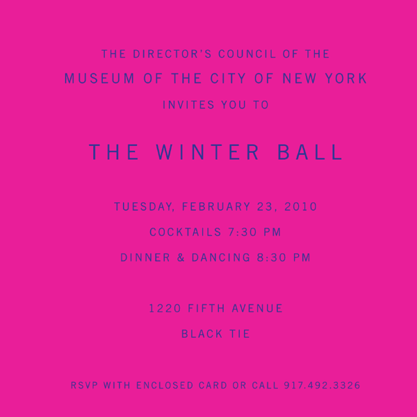 NEW YORK-FEBRUARY 23:    The Director's Council of the  MUSEUM OF THE CITY OF NEW YORK'S 2010 Winter Ball on Tuesday, February 23, 2010 at the Museum of the City of New York, 1220 Fifth Avenue, New York City, NY  (PHOTO CREDIT:  ©Manhattan Society.com 2010 by Gregory Partanio)