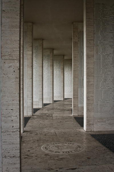 Thousands of names line the walls of the Manila American Cemetery and Memorial, commemorating the lives spent in defense of the Philippines in WWII.