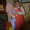 Mama and baby mermaids
