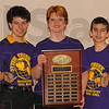 Champs: The Otter Creek Middle School team won this year's Geography Quiz Bowl. Pictured are: Harry Chambers, Jared Wells, coach Nikki Matthews, Isaac White and Tyler Knierim.