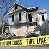 Burned out: The house located at 528 south 7th street is a total loss police say was caused by an alleged arsonist.