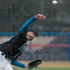 Tribune-Star/Joseph C. Garza<br /> Through the rain: Indiana State pitcher Jason Van Skike delivers a pitch in a steady drizzle during the Sycamores' game against Tennessee-Martin Sunday at Bob Warn Stadium.