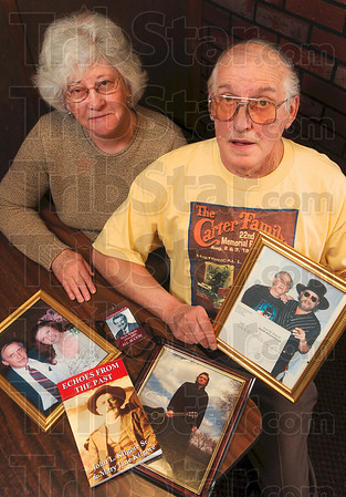 Tribune-Star/Joseph C. Garza<br /> Discovering the branches of the family tree: John L. Kilgore, Sr., right, and his wife, Mary Jane Kilgore, discovered that they are related to country music pioneers after John dove into the family's genealogy.