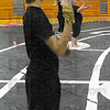 Finalists: The Terre Haute North Color Guard competes in the State Finals this wek end: Here Guard member Seth Williams practices with the rest of the team.
