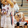 Stunned: North players are stunned by the finish of their game against Martinsville Friday night.