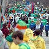 Sea of people: The annual St. Patrick's parade streams along the westbound side of Ohio Boulevard Saturday afternoon.