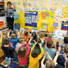 Count: Mrs. Condon works with her pre-school class Thursday afternoon at Deming Elementary School.