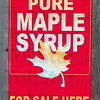 Get the pancakes ready: This sign lets visitors know they can purchase a bottle of Parke County maple syrup at Foxworthy's Maple Syrup near Turkey Run State Park.
