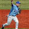 Gotcha: Indiana State's #11, third baseman Luke Fleser thows out a runner after fielding a ball during game action Saturday.
