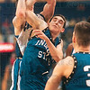 Tribune-Star file photo/Joseph C. Garza<br /> A tense moment: An attempt to block Creighton's Ryan Sears landed Indiana State guard Michael Menser on the bench with a sore hand during the Sycamores' win Sunday, March 4, 2001 at the Savvis Center in St. Louis.
