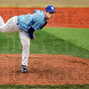 Fire: Indiana State's #28, Brett Merkley throws a pitch to the plate durng game action Tuesday.