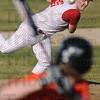 Heat: Marshal pitcher #30, Zack Remlinger fires a pitch to a Paris batter during early inning action Tuesday evening.