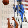 Shooter: West Vigo's Tyler Wampler takes a shot during play against Brown Co. Tuesday night in the Owen Valley gym.