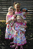 The girls pose in their Easter dresses