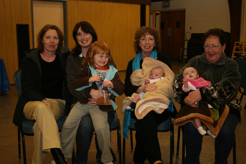 Dina and her family; Kathy, Dina and Charlie (love the grin!), Mary and Connor, and MaryLou and Elyse