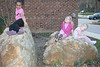 sitting on the rocks at the elementary school