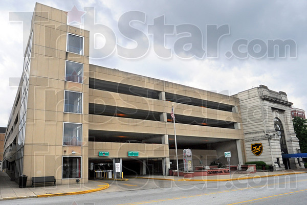 Garage sale: The City-owned parking garage main entrance on Wabash Avenue.