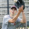 Got it: North center-fielder Andrew Gauer catches a ball during Thursday's practice.