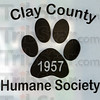 Logo: Signage of the Clay County Humane Society shelter.
