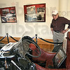 Remember: Joe Claretto looks at the Bardahl Special in the  Hulman Museum Wednesday afternoon. He's a huge Indy 500 race fan and has attended 54 consecutive races.